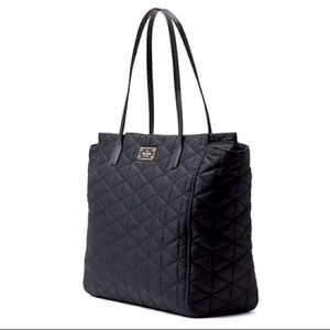 ♠️Kate Spade♠️Chic Black Nylon Quilted  Tote Purse